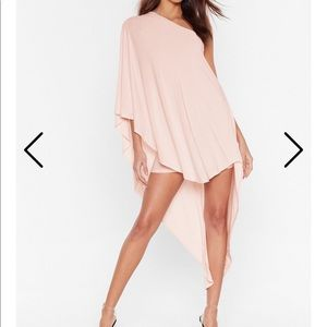 Nasty Gal Superwoman Pink Double Layer Dress